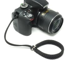 The ?Cordy Crossover? Black Paracord Camera Wrist Strap - Handmade by Cordweaver