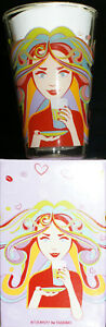 Jacobs-Tassimo-Ritzenhoff-Latte-Macchiato-Glas-4-Edition-Motiv-Frau-bunte-Haare