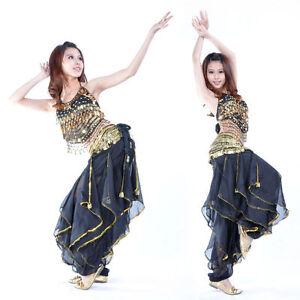 belly-Dance-Costume-Orientale-haut-pantalon-Ensemble-danse-du-ventre-8-couleur