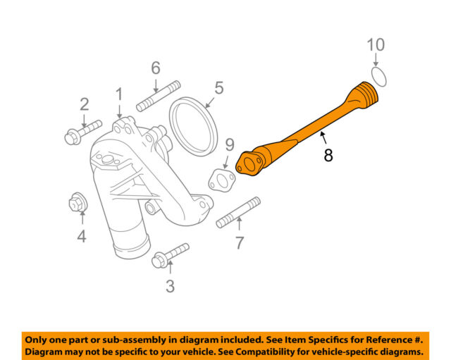 12636733 97328879 Duramax Engine Oil Cooler Pipe