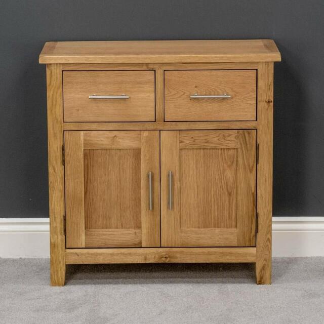 Rustic Oak Small 2 Door Dresser Solid