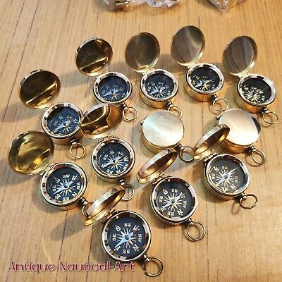 Antique Brass Lid Compass 45 mm Lot Of 100 Pcs Marine Collectible