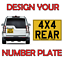 NUMBER PLATE REAR LORRY 11 X 8 YELLOW  NUMBER PLATE TRAILER HORSE BOX