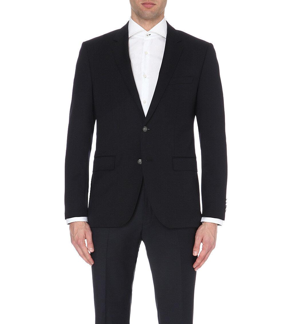 HUGO BOSS – Dark Blau Super 100 Wool 'The Jeremy' Blazer Jacket – Größe 38 R