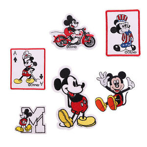 d3ed36ea 6pcs Cute Cartoon Mickey Embroidered Iron/Sew ON Patch Kids Cloth ...