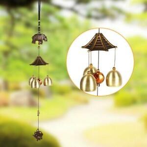 Wind Chimes Metal Copper 6 Bells Outdoor Garden Yard Home Hanging Ornaments