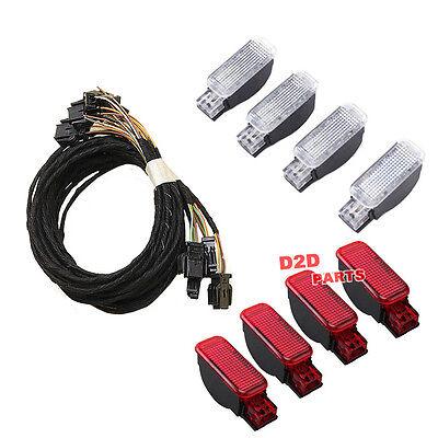 Door Light Set & Halogen Footwell light Set For AUDI A3 8P A4 S4 B8 A6 S6 C7 TT