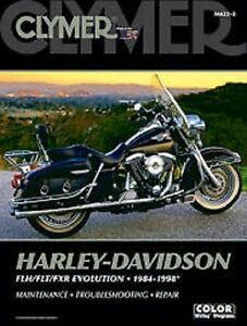 clymer repair shop manual harley davidson flh flt fxr evolution 84 rh ebay com clymer harley davidson repair manual clymer harley davidson manuals