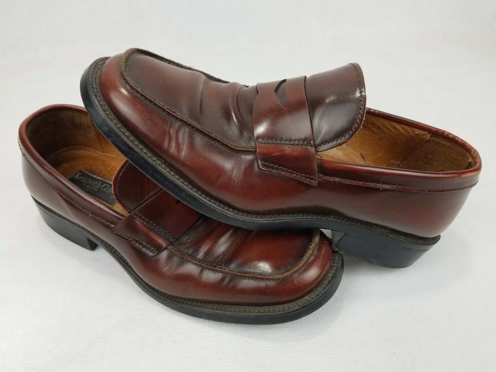 Kenneth Cole New York Dress Loafers Slip On Shoes Brown Leather Italy Mens Sz 8