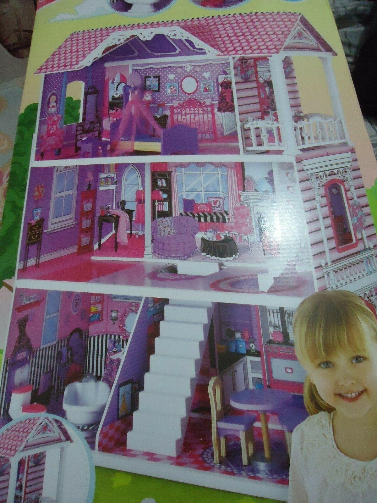 ELC Mothercare Luxury Manor doll haus 3 storey Holzen 10 accesories brand new