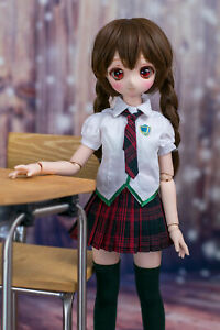 1//3 bjd SD13 girl dollfie dream smart doll Clothes Outfit School Uniform dress