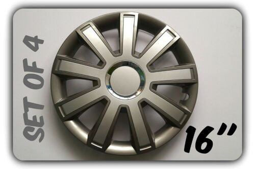 """SET OF 4 16/"""" UNIVERSAL WHEEL TRIMS COVER,RIMS,HUB,CAPS TO FIT CHRYSLER GIFT #9"""