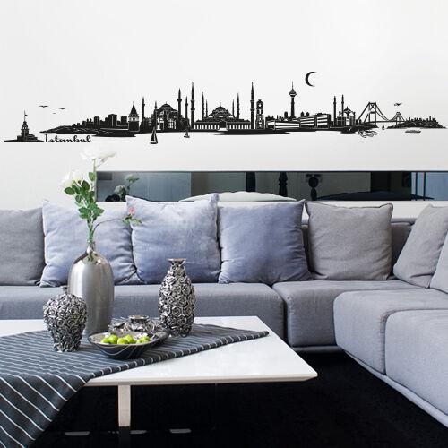 Skyline Istanbul Türkei als Wandtattoo Wandaufkleber Wanddeko AufkleberNEU