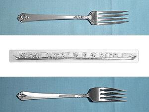 """Castle Rose by Royal Crest Sterling Silver Regular Fork 7 1//8/"""" Flatware"""