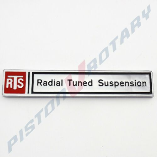 RTS RADIAL TUNED SUSPENSION Boot Lid Badge for Holden VB VC Commodore Stick-on