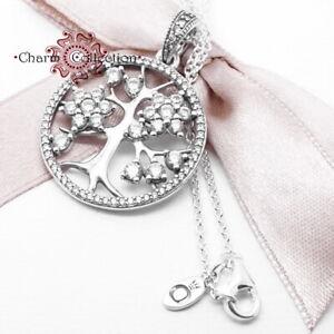 Echt-925-Sterling-Silber-Stammbaum-Halskette-mit-Anhaenger-80-cm