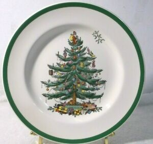 Dinner-Plate-Spode-Christmas-Tree-10-1-2-034-S3324-Made-in-England