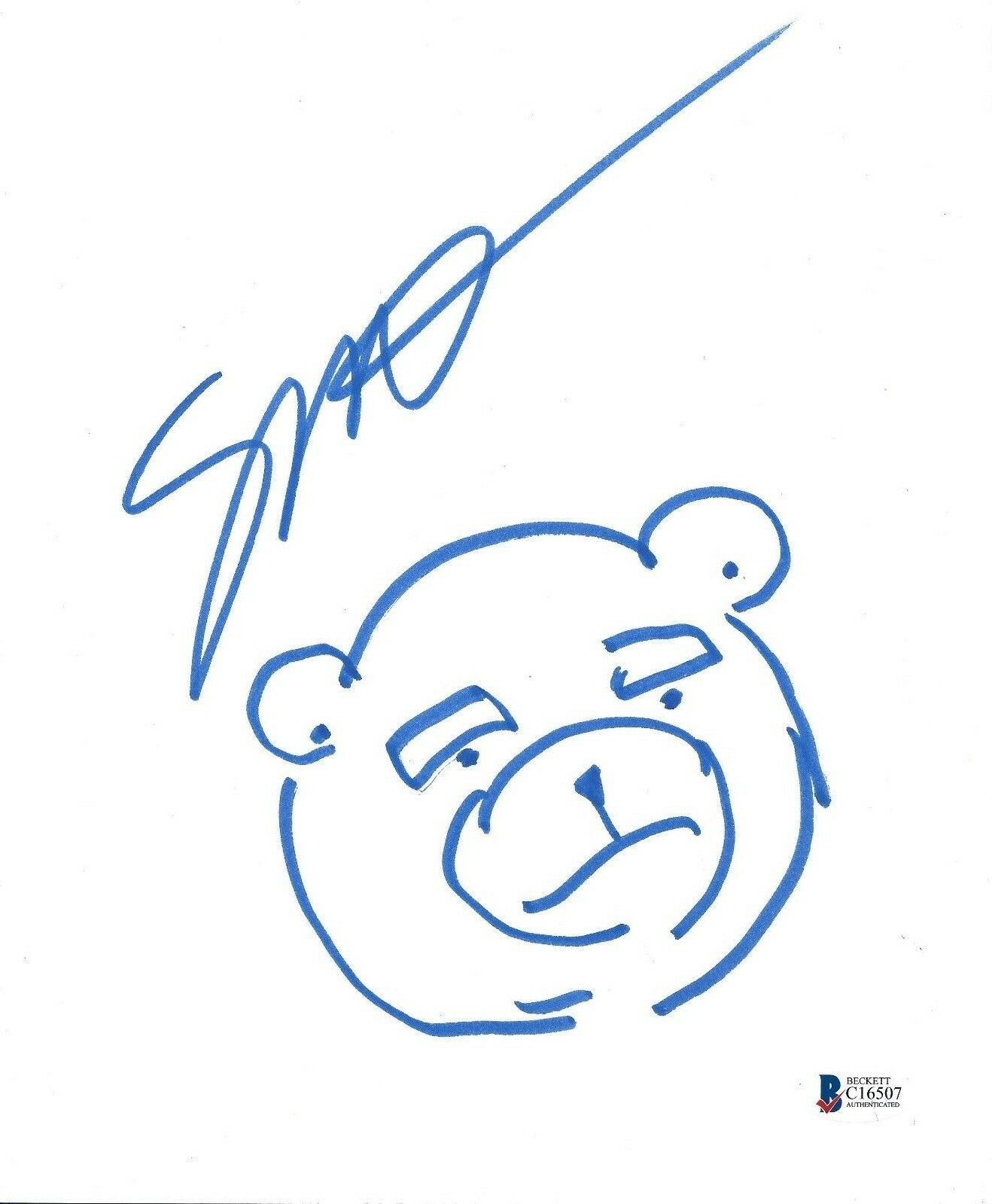 Seth Mcfarlane Signed/Hand Drawn 'Ted' 8.5x11 Photo/Drawing Sheet Sketch BAS