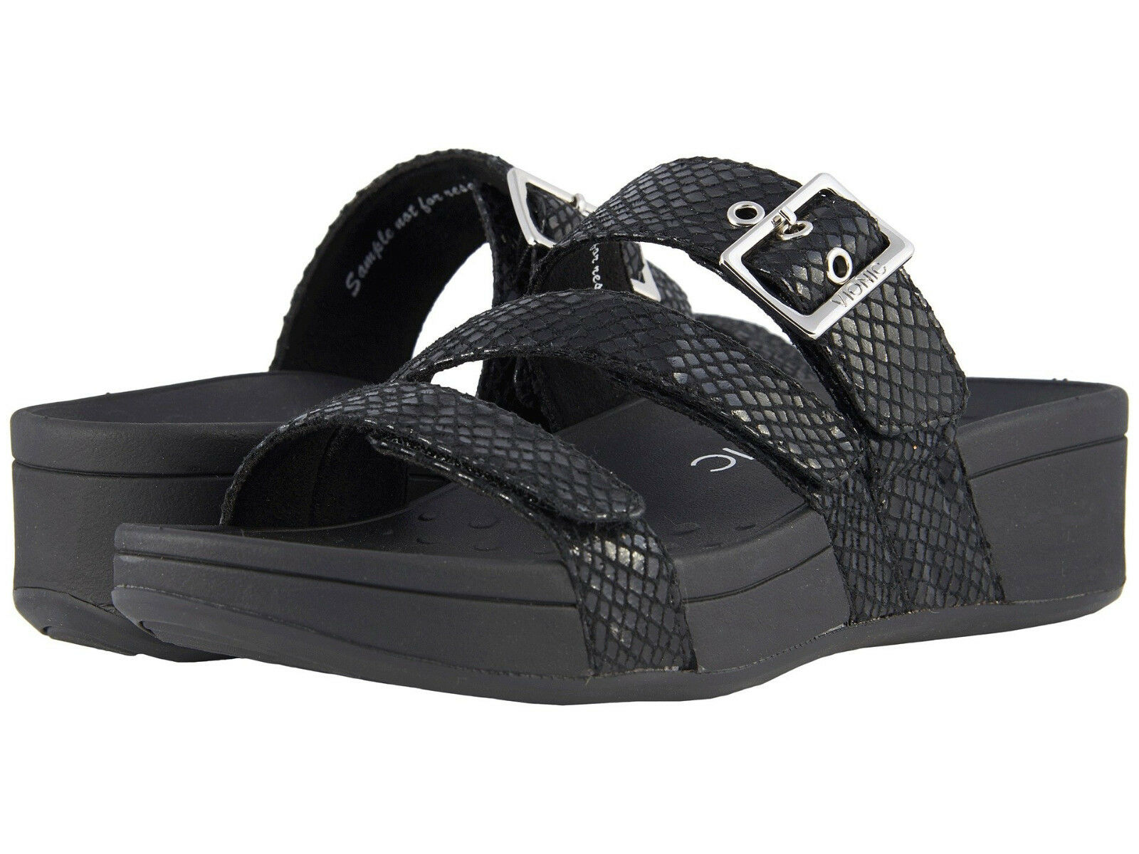 donna Vionic Orthaheel Rio Strappy Sandal 10001130 nero Snake 100% 100% 100% Original New a2e1be