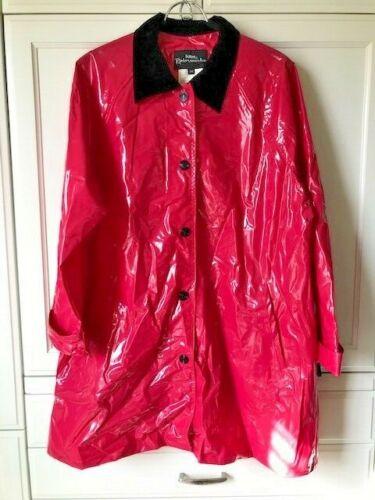 TOTES PVC Red Vinyl Raincoat Sz SM Jacket Trench S