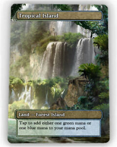 === 4X Tropical Island X4 == Full Art Borderless ==