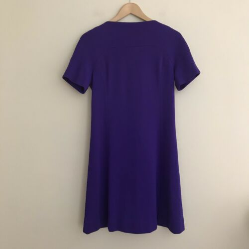 Vintage 60s Youth Guild Mod Dress Solid Purple 100