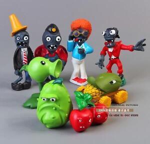 8pcs Set Figurine Plants Vs Zombies Pvc Action Figures Collectibles Toys Game Ebay