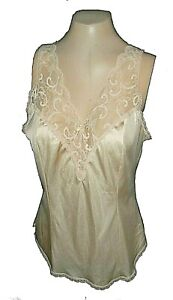 vintage-1950s-Cami-Camisole-Maidenform-Sweet-Nothings-Mint-Nylon-Beige-68203-38
