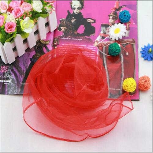 12x Multicolor Square Thin Chiffon Scarf Shawl Scarves Veil Dance Props JH