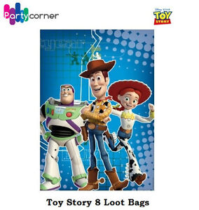 TOY-STORY-PARTY-SUPPLIES-LOOT-BAGS-LOLLY-BAGS-TREAT-BAGS-PACK-OF-8