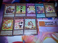 LOTTO 8 CARTE MAGIDOLCE IN ITALIANO carte yu-gi-oh! ORIGINALI KONAMI AL 100%
