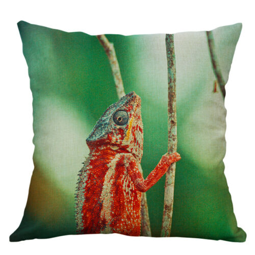 "18/"" Lizard Print Pillow Cover Throw Pillow Case Sofa Cushion Cover Home Decor"