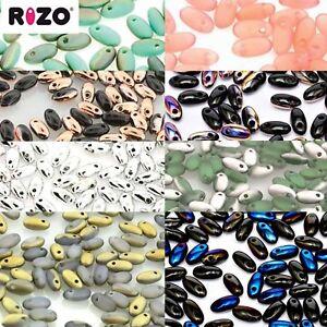 10 Grams Rizo 2.5 x 6mm Czech Glass Long Rice Fringe Drop Beads Pick the Color