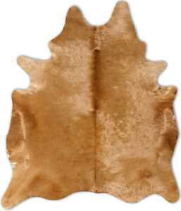 Details About Camel Brown Cowhide Rug Cow Skin Leather Area Hair On Hide