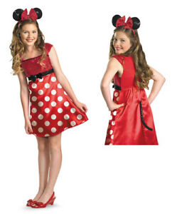 Image is loading Red-Minnie-Mouse-Tween-Halloween-Disney-Costume  sc 1 st  eBay & Red Minnie Mouse Tween Halloween Disney Costume | eBay