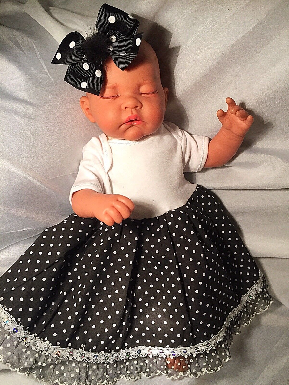 HANDMADE CLOTHES FOR,REBORNS & BABY DOLLS 18-22 inch Dress Headband Shoes