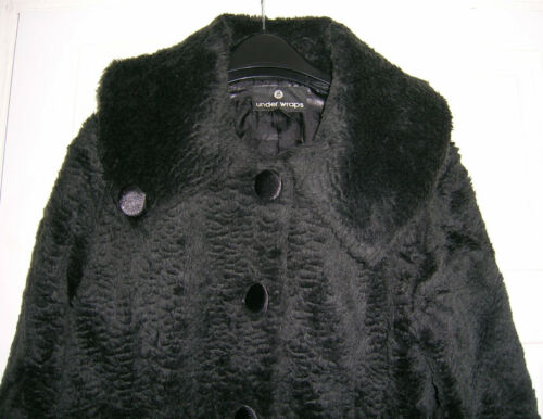 Wraps Under Black Faux 8 Uk Coat 12 Fur Us Eur Størrelse 40 rrdZ4fq
