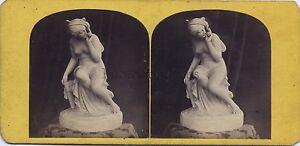Foto D'Une Scultura Psiche Expo Parigi 1867? Stereo Vintage