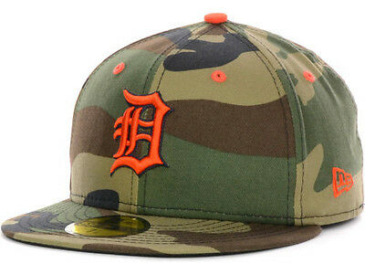 Official MLB Detroit Tigers Camo Pop New Era 59FIFTY Hat Fitted