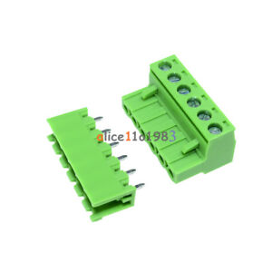 5Pcs KF2EDGK KF-6P 6PIN Right Angle Plug-in Terminal Connector 5.08mm Pitch