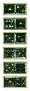 Inkadinkado-Rubber-Stamps-Dominoes-Gambling-Games-Night-Domino-Numbers