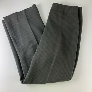 Ann-Taylor-Sz-2-Dress-Pants-Gray-Stripe-Rayon-Career-Flat-Light