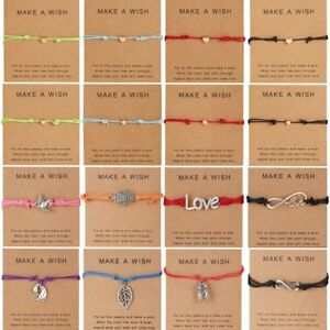 Charm-Wish-Bracelet-Tibetan-Friendship-Best-Friend-Bangle-Valentine-039-s-Day-Gift