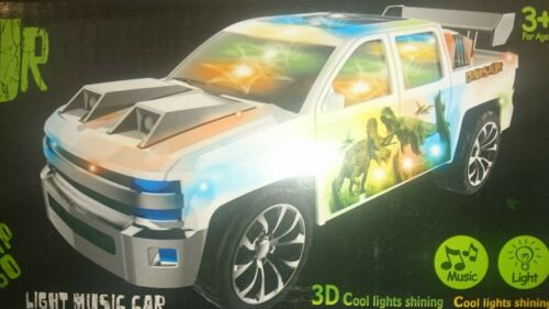Dinosaurio Tyrannosaurus Rex Bump n/'go 3D Cool Luces Brillante Musical Juguete 336 coche