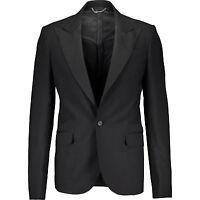 65% Off Balmain Black Tuxedo Suit Blazer It54/uk44 Rrp £1050 Smooth As Silk Wool