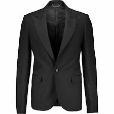 New BALMAIN Black Tuxedo Suit Blazer IT52/UK42 RRP £1050 smooth as silk wool