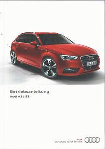AUDI-A3-S3-Limousine-Sportback-8V-Betriebsanleitung-2015-Handbuch-BA