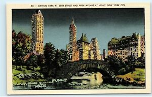 Image Is Loading Central Park At 59th Street Fifth Avenue Night