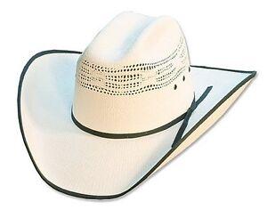 Straw Hat Western Hat Cowboy Hat »Ashton« White Country Western ... e1709e583dc