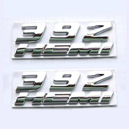 2x OEM Chromes 392 HEMI Emblem Badge 3D for Challenger F 392Hemi
